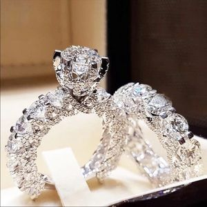 New Round Cut 925 Silver Wedding Engagement Ring